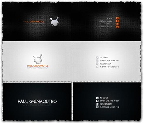 3 Corporate business cards for Photoshop