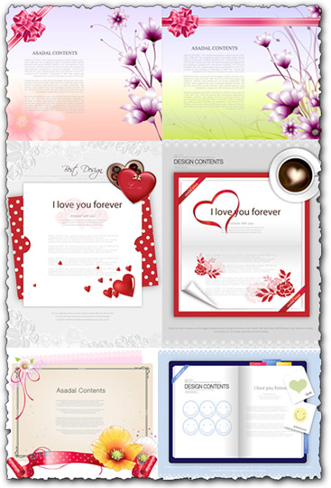 Floral templates design vectors
