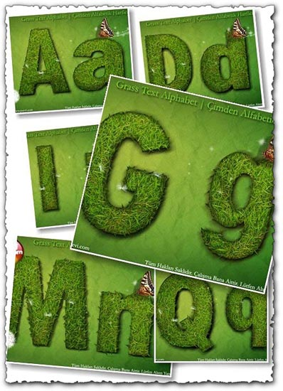 Photoshoped Grass letters