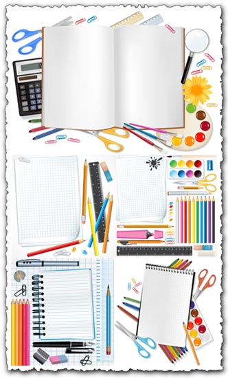 School supplies vectors