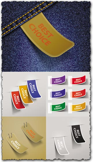 Best choice stickers vectors