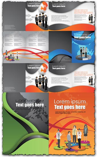 Business brochure vector design