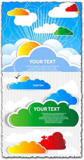 Cloud speech bubble vectors