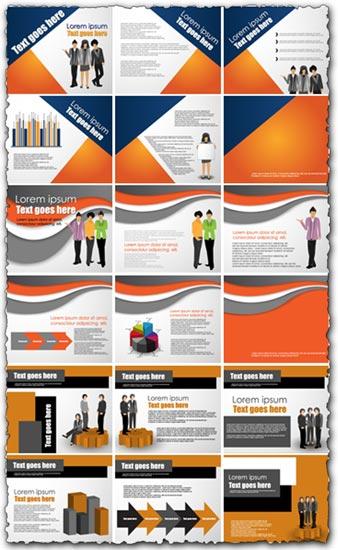 Corporate brochure design vector