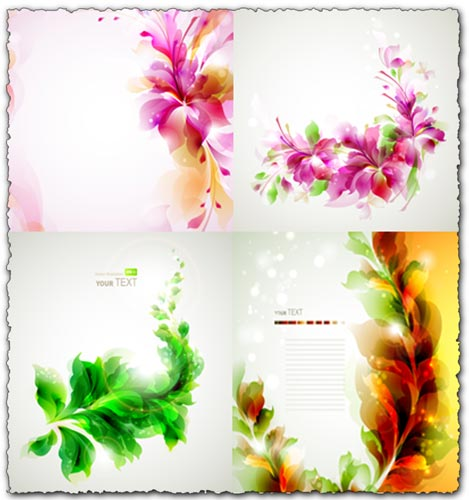 Glowing floral vector templates