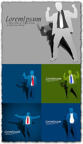 Paper businessman template vectors