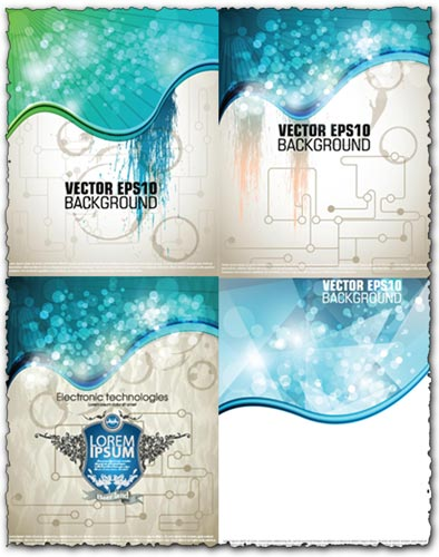 Technology vector backgrounds