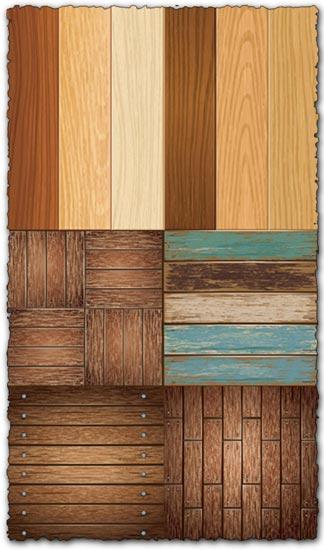 Wooden vector textures