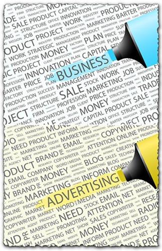 Advertising cloud collage vectors