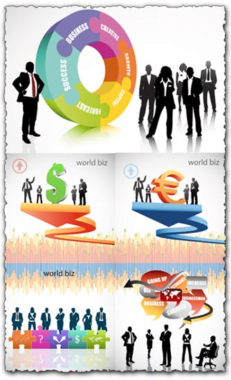 Business flyers template vectors