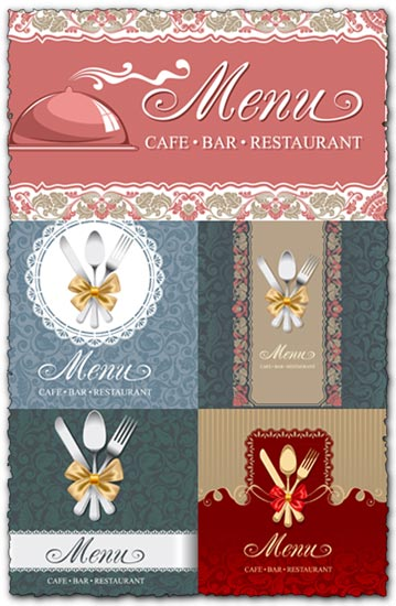 Cafe bar restaurant menu vectors