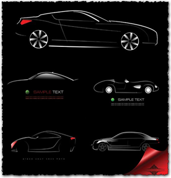 Concept car shapes vectors