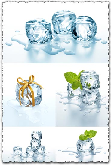 Ice cubes high resolution images