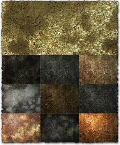 10 PNG grungy wall textures