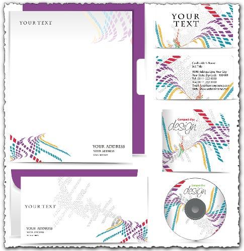 Violet corporate identity vectors