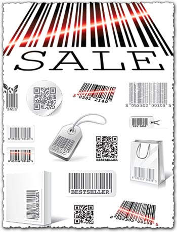 Bar codes vector templates