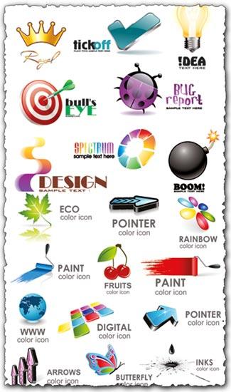 Logo vectors in 3D format