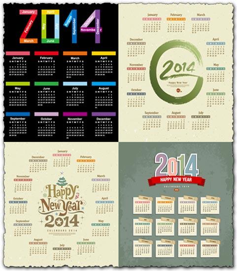 2014 calendar vector templates
