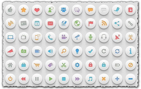 3D badge icons for Photoshop
