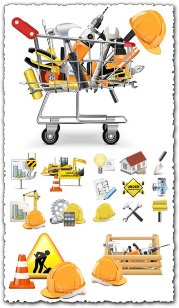 Construction icons in vector format