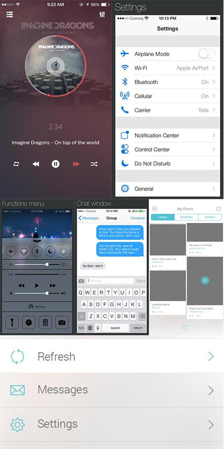 iOS7 UI components design