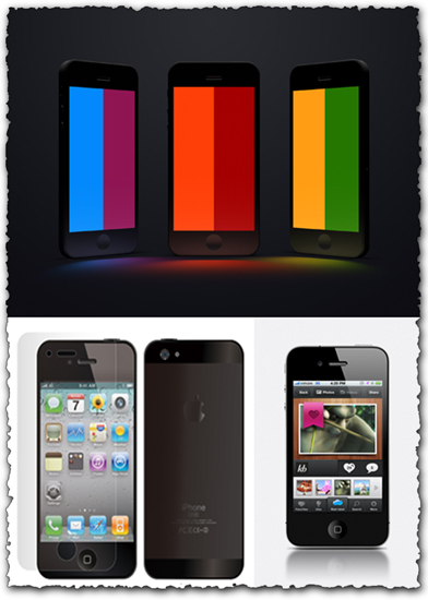 Iphone 5 designs for Photoshop
