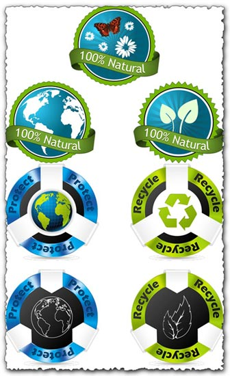 Modern eco tags vectors