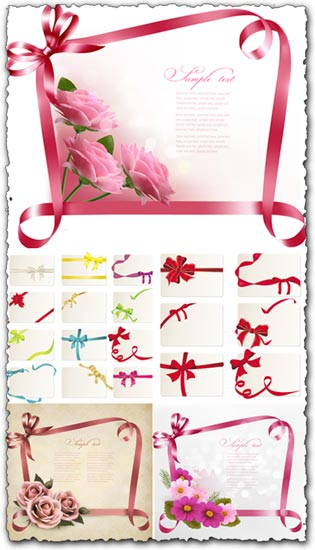 Ribbons and frames vectors
