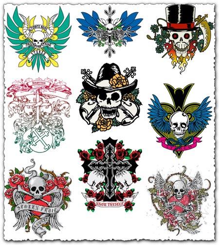 54 skulls vector designs