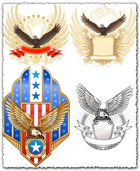 Creative eagles vectors design