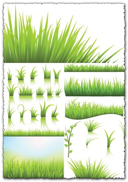Green grass vector templates