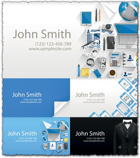 5 ideas of business cards vectors