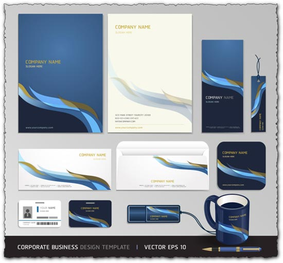 Blue corporate business vector templates