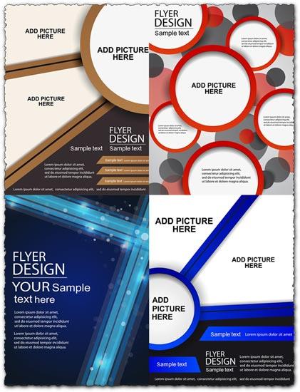 Brochures covers vector design