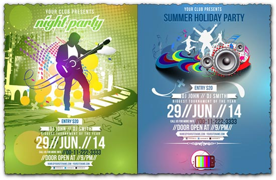 Night club party brochure vector