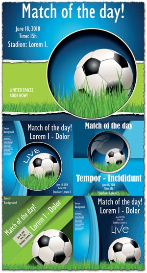 Soccer poster vector illustrations