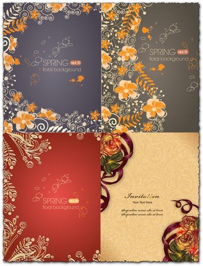 Spring floral background vector illustration 2