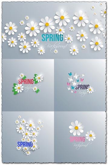 White daisies vectors