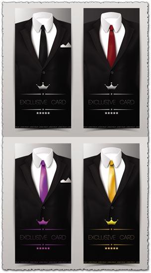 Black tuxedos vector shapes