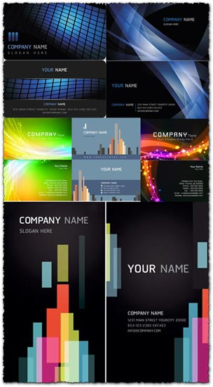 Elegant business cards vectors