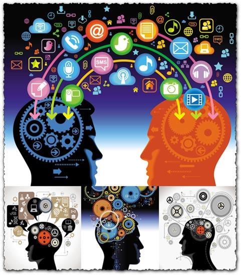 Human brain, how is working vectors