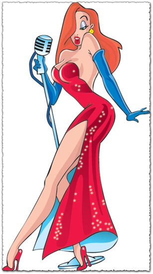 Jessica rabbit vector design