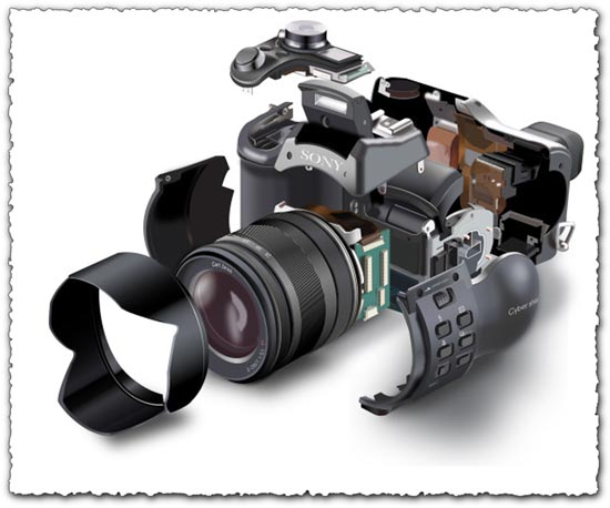 Unfolded photo camera vector