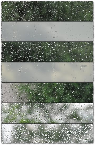 Water drops on glass textures
