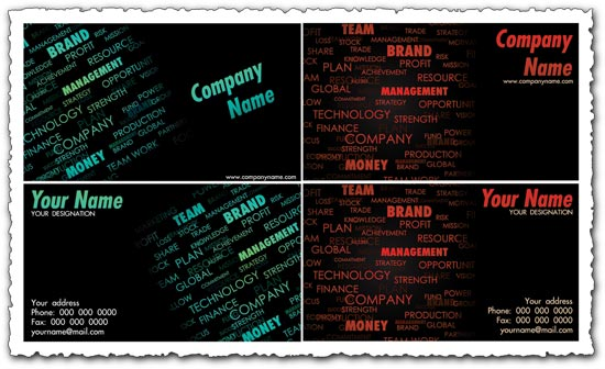 Collage business cards vectors word collage business cards vectors colourmoves