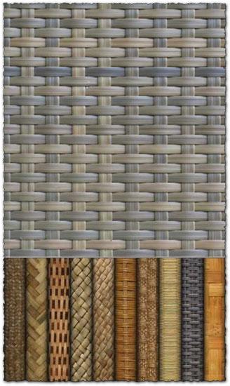 Woven fiber textures