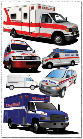 Ambulances vector design