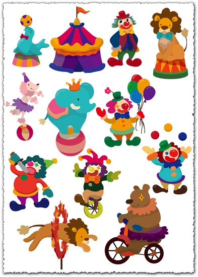Circus show vector cliparts