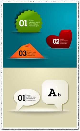 Colored speech bubbles and tips vector