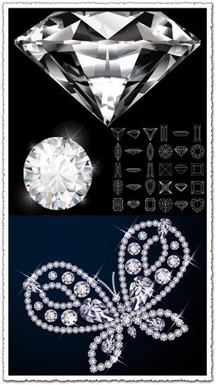 Diamond geometric shapes vector